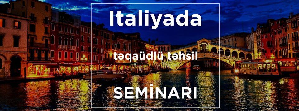 İtaliyada Təqaüdlü Təhsil Seminarı