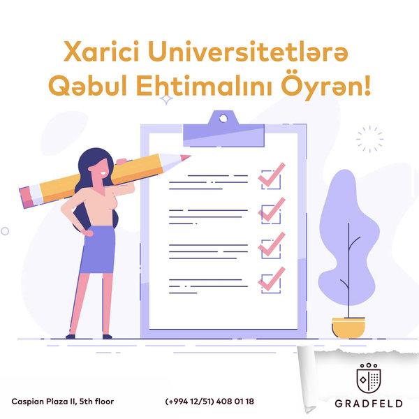 Xarici Universitetlərə qəbul şansını Öyrən!