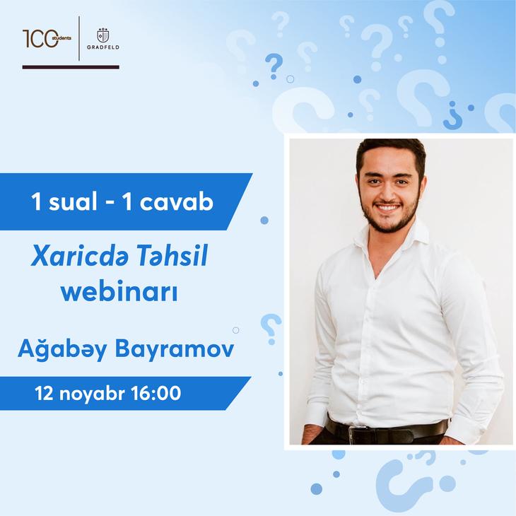 1 Sual 1 Cavab Xaricdə Təhsil Webinarı
