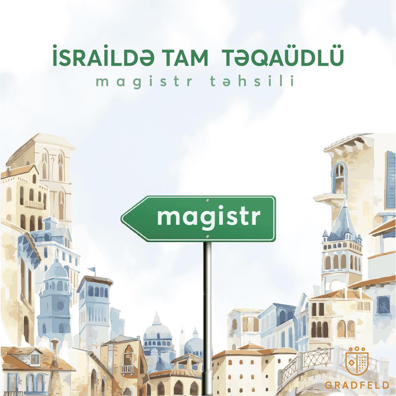 İsraildə Tam Təqaüdlü Magistr Təhsili