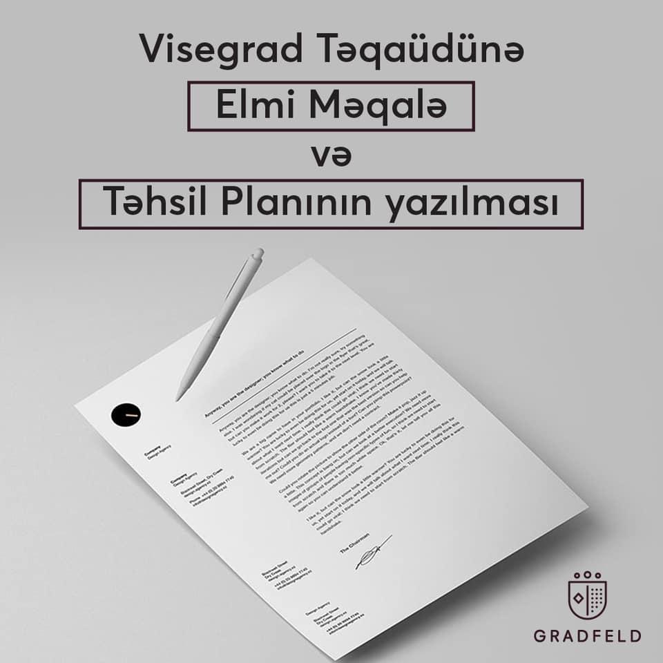 Visegrad Təqaudunə Elmi məqalə və təhsil planın yazılması