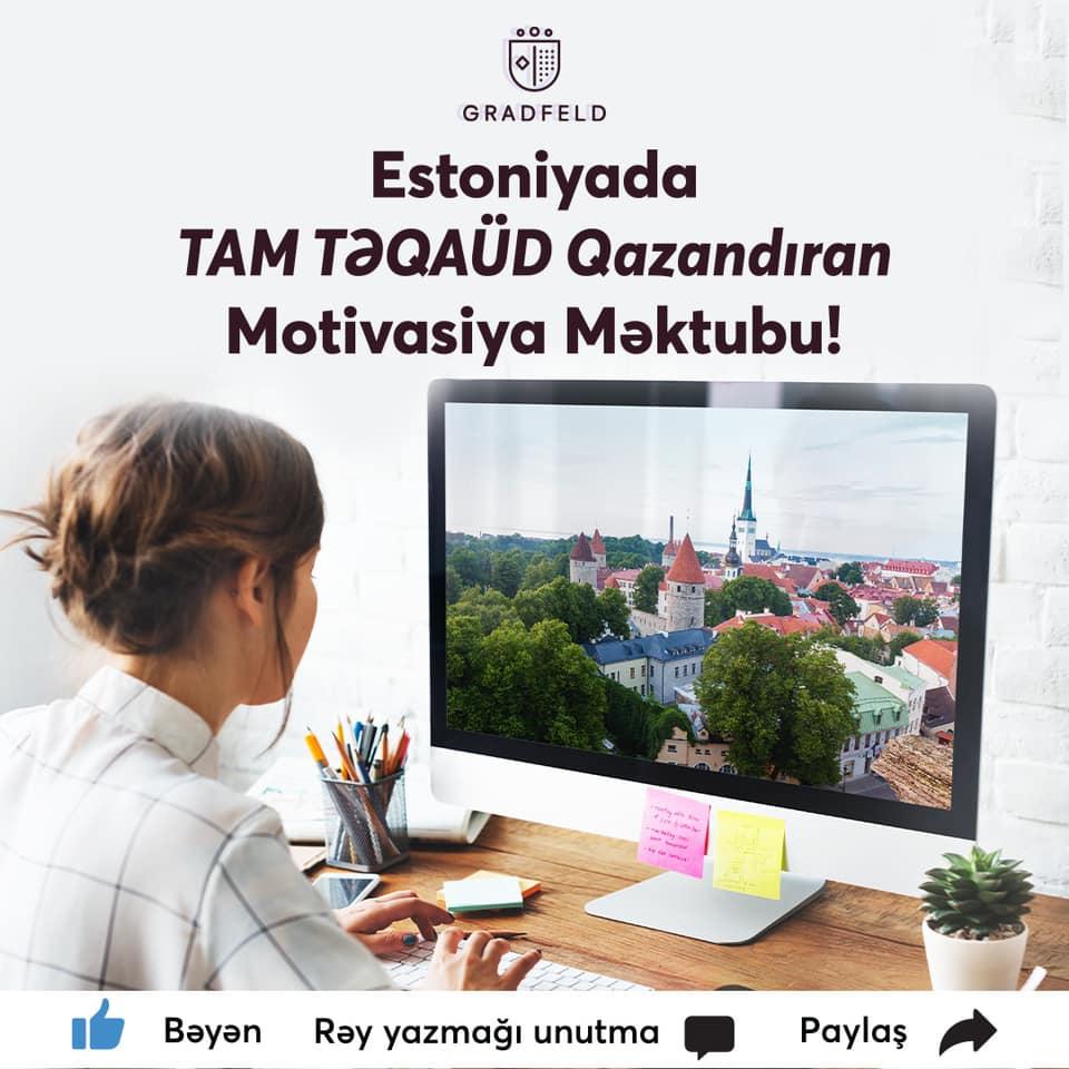 Estoniyada tam təqaüdlü təhsil üçün motivasiya məktubu