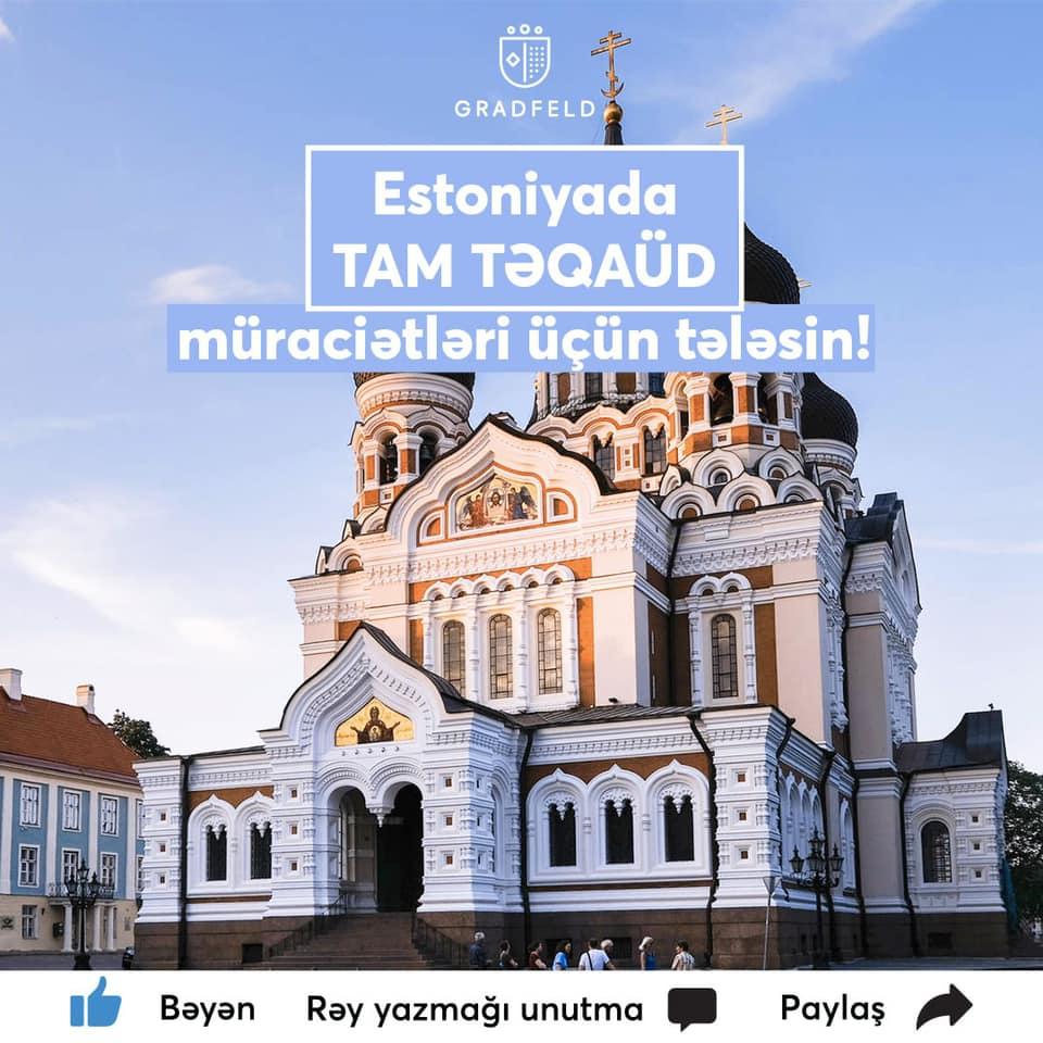 Estoniyada TAM TƏQAÜD müraciətləri