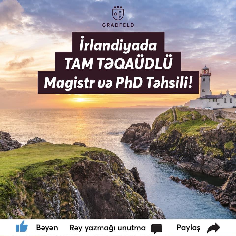 İrlandiyada Tam Təqaüdlü təhsil