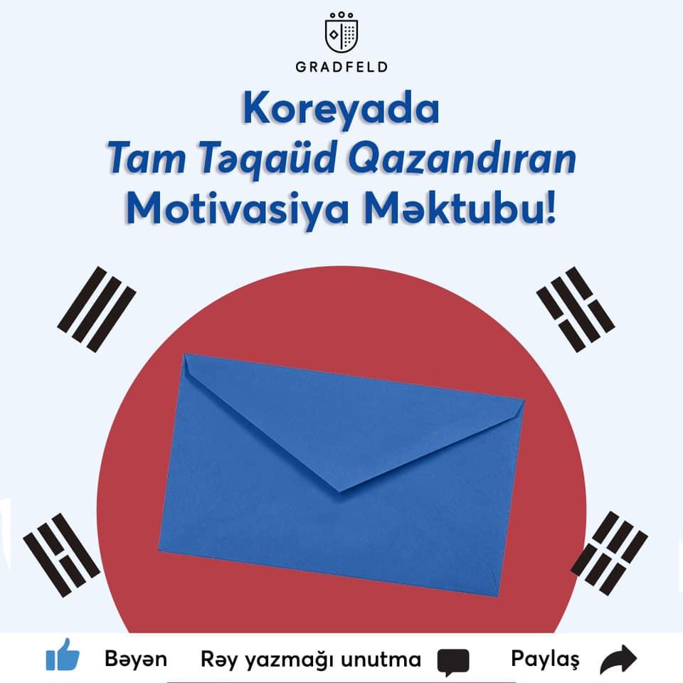 Koreyada təhsil üçün motivasiya məktubu