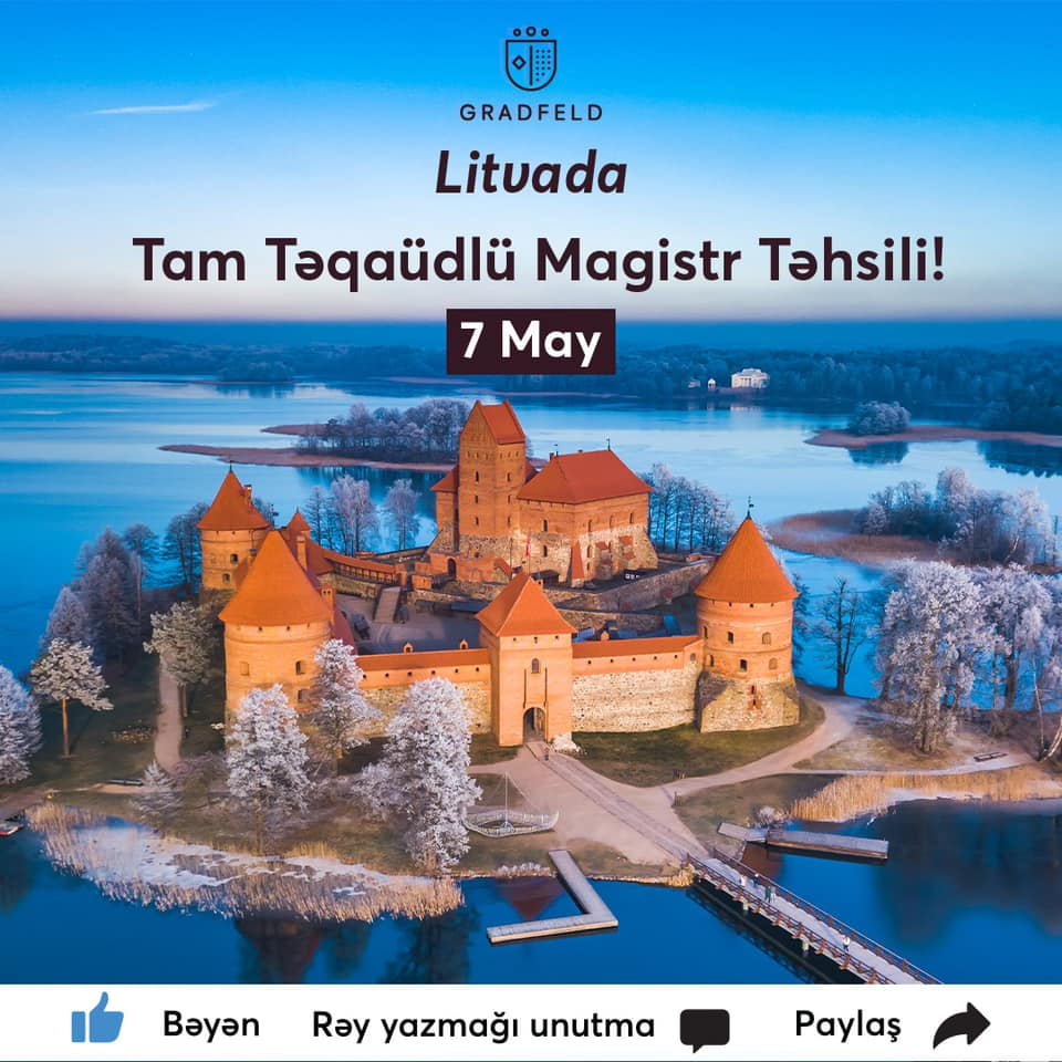Litvada TAM TƏQAÜDLÜ Magistr təhsili