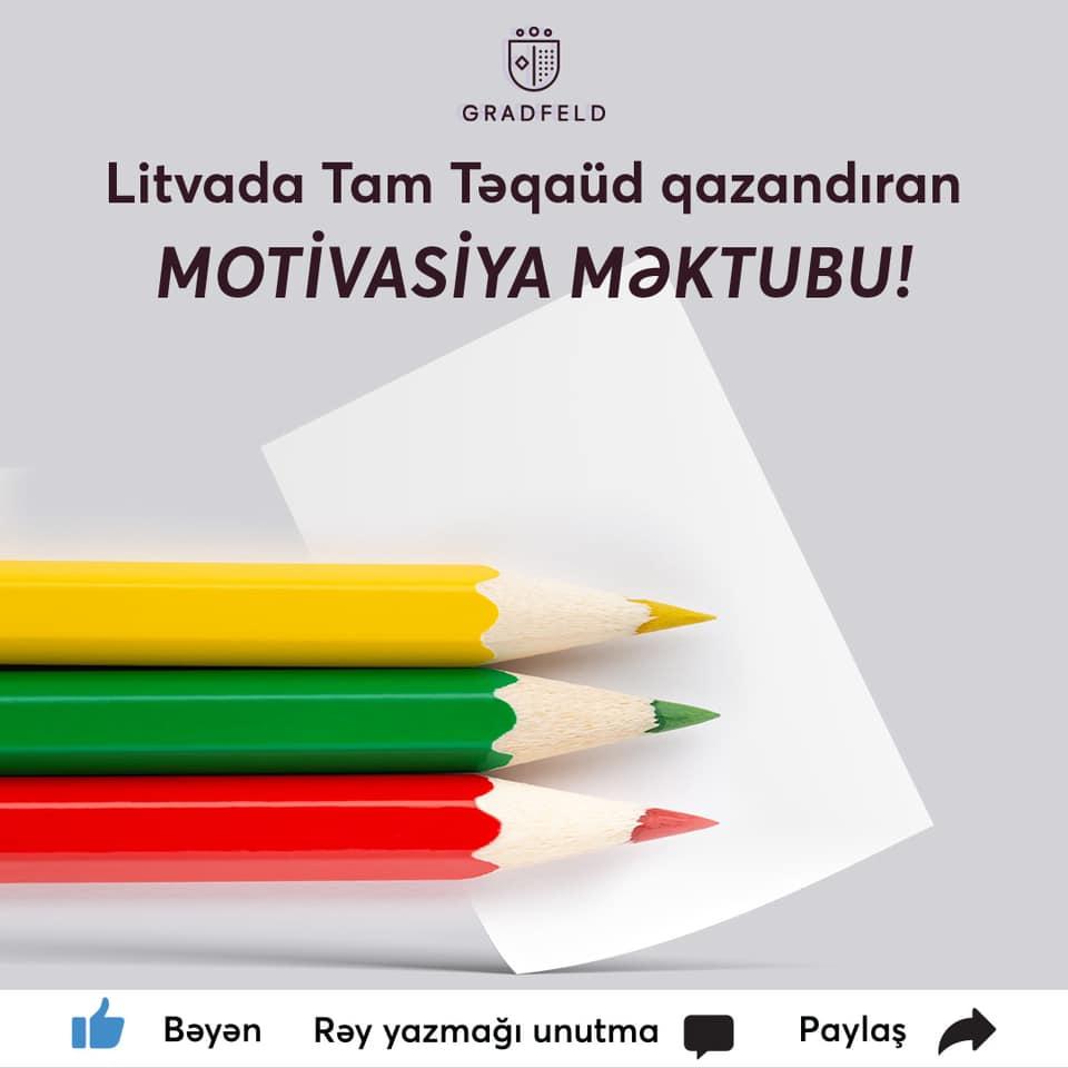 Litvada TAM TƏQAÜDlü Təhsil üçün motivasiya məktubu